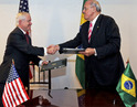 Opportunities to expand military cooperation highlighted discussions Defense Secretary Robert M. Gates with two of his South American leaders