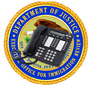 HOW TO USE THE IMMIGRATION COURTS' 800 PHONE NUMBER