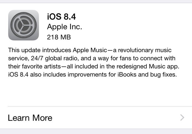 Apple Releases iOS 8.4 With Apple Music, Beats 1, and Revamped Music App